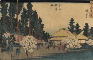 Утагава Хиросигэ. Святилище Инари в Одзи, из серии достопримечательностей Эдо