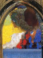 Одилон Редон. Профиль женщины в окне
