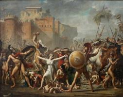 Жак-Луи Давид. Сабинянки, останавливающие битву между римлянами и сабинянами