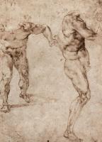 Микеланджело Буонарроти. Два этюда мужских обнаженных фигур