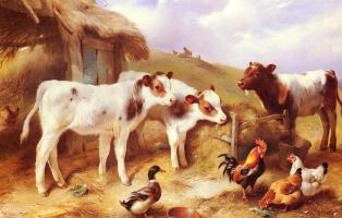 Уолтер Хант. Телята, курица и утка