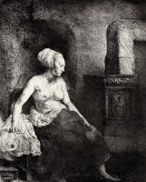 Рембрандт Харменс ван Рейн. Обнажённая у печки
