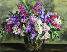 "Petr Petrovich Konchalovsky. Lilacs in the basket (""Eroica"")"