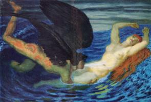Franz von Stuck. The wind and the wave