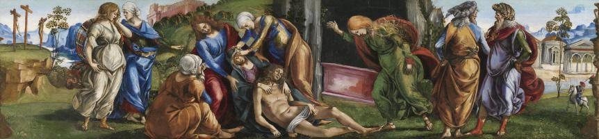 Лука Синьорелли. Оплакивание мертвого Христа