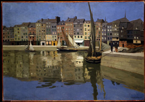 Felix Vallotton. The port of Honfleur by night