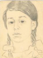 Неизвестный  художник. Портрет девочки