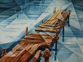 Vasily Vyacheslavovich Krotkov. Pieces Of The Sun. Kubofuturizm