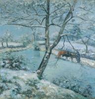 Камиль Писсарро. Зима в Монфуко (Эффект снега)