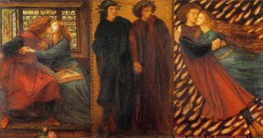 Dante Gabriel Rossetti. Paolo and Francesca da Rimini. Triptych