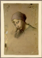 Jean-François Millet. Head of a young girl