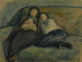 Leonid Osipovich Pasternak. On the couch.