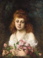 Алексей Алексеевич Харламов. Красавица с розами