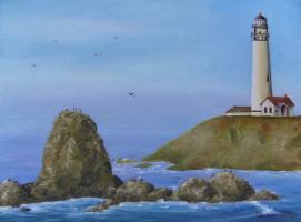 "Alyona Serebryakova. ""lighthouse at sunrise"""