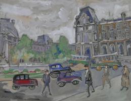 Joseph Mikhailovich Levin. Paris. The urban landscape