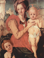 Якопо Понтормо. Мадонна с Иоанном Крестителем