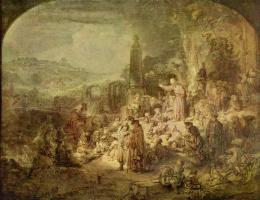 Рембрандт Ван Рейн. Проповедь Иоанна Крестителя