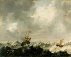 Питер ван дер Крос. Буря на море