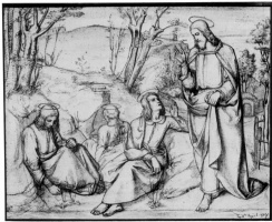 Julius shnorr fon Karol'sfel'd. Christ in Gethsemane