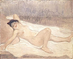 Theophile-Alexander Steinlen. Nude on the bed