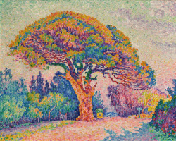 Paul Signac. The Pine Tree at Saint-Tropez