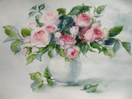 Roses in a vase (copy)