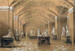 Луиджи Премацци. Виды залов Нового Эрмитажа. Зал новейшей скульптуры