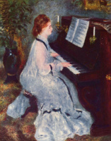 Pierre Auguste Renoir. The woman at the piano