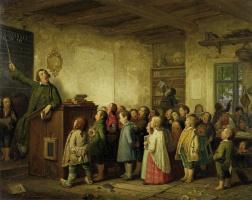 Johann Peter Gazhenclere. Rural school