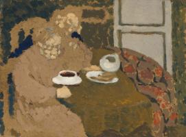 Jean Edouard Vuillard. Two Women Drinking Coffee