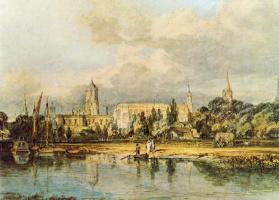 Джозеф Мэллорд Уильям Тёрнер. Южный вид на Церковь Христа со стороны лугов
