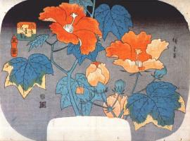 Утагава Хиросигэ. Цветущие лилии