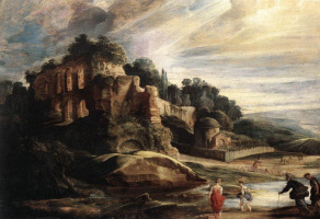 Питер Пауль Рубенс. Пейзаж с руинами горы Палатин в Риме
