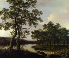 Йорис ван дер Хаген. Речной пейзаж