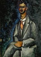 Ilya Ivanovich Mashkov. Portrait of a poet. 1910