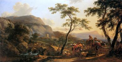 Николас Питерс Берхем. Лесной пейзаж