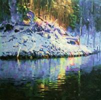Михаил Рудник. Зимнее озеро