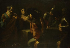 Valentin de Boulogne. The denial of St. Peter