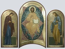 Виктория Викторовна Сорокина. Деисус - Спаситель, Богородица, Иоанн Предтеча.