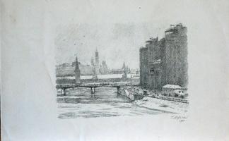 View of the Kremlin and Moskvoretsky Bridge