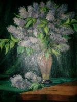 Arkady Pavlovich Laptev. Lilacs in a vase