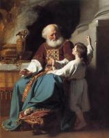 Джон Синглтон Копли. Самуил сообщает о грядущем наказании дому Илия