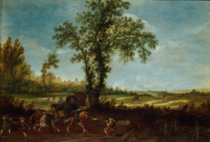 Эсайас ван де Вельде. Нападение на фургон