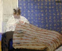 Jean Edouard Vuillard. Madame Vuillard sewing