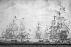 Виллем ван де Вельде Младший. Бой в море