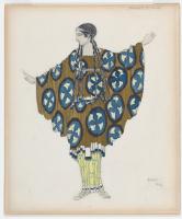 "Lev Samoilovich Bakst (Leon Bakst). Costume design for the ballet ""Daphnis and Chloe"""