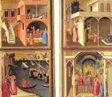 Амброджо Лоренцетти. Жизнь святых