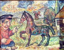 Давид Давидович Бурлюк. Крестьяне с лошадью