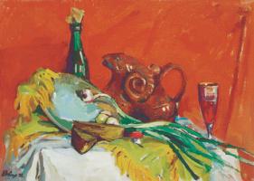 Андрей Шевчук. Натюрморт на красном.