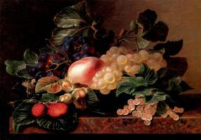 Йохан Лоренц Дженсен. Натюрморт с виноградом